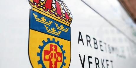 Bild på skylt med Arbetsmiljöverkets logotyp